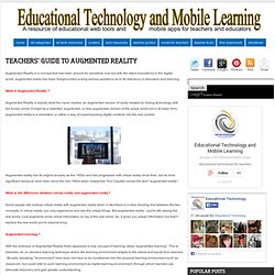 Teachers' Guide to Augmented reality