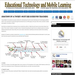 Anatomy of A Tweet- Must See Guide for Teachers