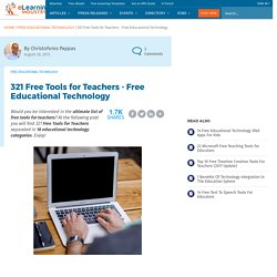 321 Free Tools for Teachers - Free Educational Technology