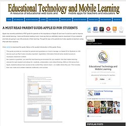 A Must Read Parent Guide-Apple ID for Students