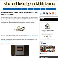 Excellent Videos OnThe Use of Augmented Reality Apps by Students