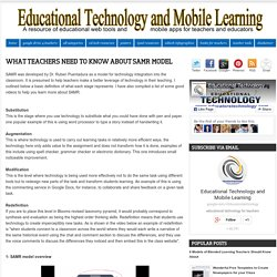 What Teachers Need to Know about SAMR Model
