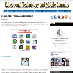 25 iPad Apps for Learning Spelling