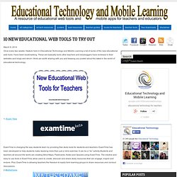 Educational Technology and Mobile Learning: 10 New Educational Web Tools to Try Out