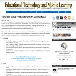 Teachers Guide to Teaching Using Social Media