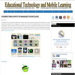 8 Great iPad Apps to Manage Your Class
