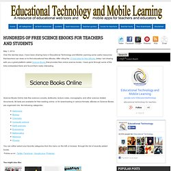 Hundreds of Free Science eBooks for Teachers and Students