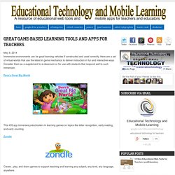 Great Game-based Learning Tools and Apps for Teachers