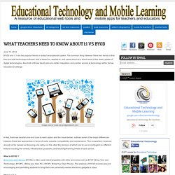 What Teachers Need to Know about 1:1 Vs BYOD