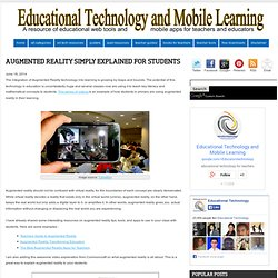 Augmented Reality Simply Explained for Students