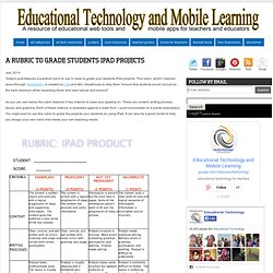 A Rubric to Grade Students iPad Projects