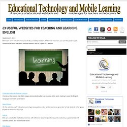 23 Useful Websites for Teaching and Learning English