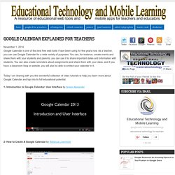 Google Calendar Explained for Teachers