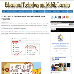 Educational Technology and Mobile Learning: 10 Ways to Integrate Google Drawings in Your Teaching