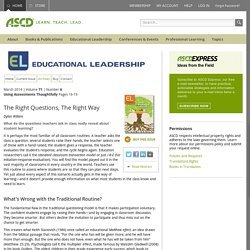 Educational Leadership:Using Assessments Thoughtfully:The Right Questions, The Right Way