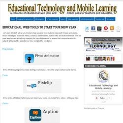 Educational Web Tools to Start Your New Year