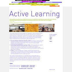 Educational Transformation through Technology at MIT - Active Learning