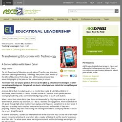 Educational Leadership:Teaching Screenagers:Transforming Education with Technology