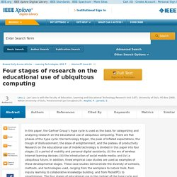 Four stages of research on the educational use of ubiquitous computing