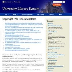 Copyright FAQ - Educational Use