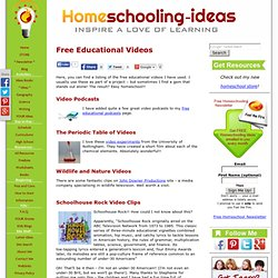 Free Educational Videos for Children