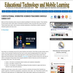 3 Educational Websites Science Teachers Should Check Out