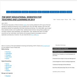 The Best Educational Websites for Teaching and Learning in 2014