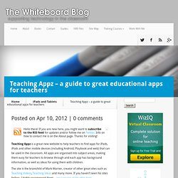 Teaching Appz – a guide to great educational apps for teachers