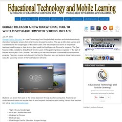 Educational Technology and Mobile Learning: Google Released A New Educational...