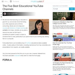 The Five Best Educational YouTube Channels