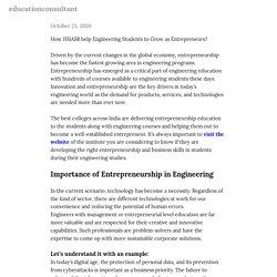 How JISIASR help Engineering Students to Grow as Entrepreneurs? — educationconsultant