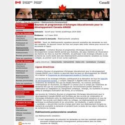 Bourses et programmes d'échanges éducationnels pour le développement Canada-ANASE