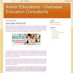 Avenir Educations - Overseas Education Consultants: Learn English: Path to IELTS