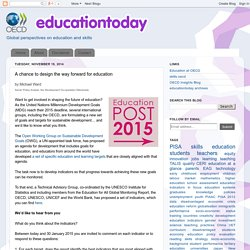 A chance to design the way forward for education
