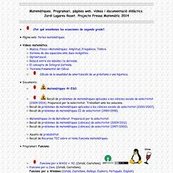 Pàgina de recursos educatius d'en Jordi Lagares Roset (TotiPM) - MATEMÀTIQUES