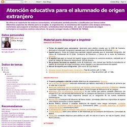 Atención educativa para el alumnado de origen extranjero: Material para descargar e imprimir
