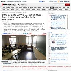 De la LGE a la LOMCE: Así son las siete leyes educativas españolas de la democracia