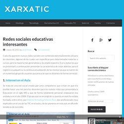Redes sociales educativas interesantes