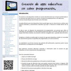 Creación de apps educativas sin saber programación
