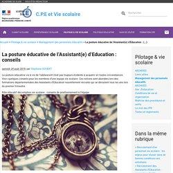 La posture éducative de l'Assistant(e) d'Education : (...) - C.P.E et Vie scolaire
