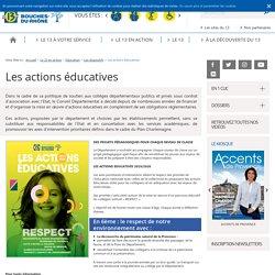 Les actions éducatives – Les dispositifs –Site du Département des Bouches-du-Rhône