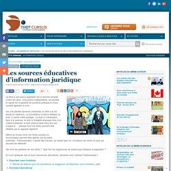 Les sources éducatives d'information juridique