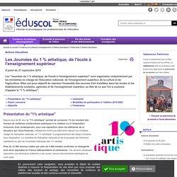 Actions éducatives - Journées du 1 % artistique