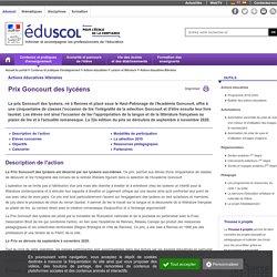Actions éducatives littéraires - Goncourt des lycéens