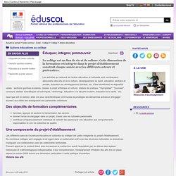 Actions éducatives - Présentation