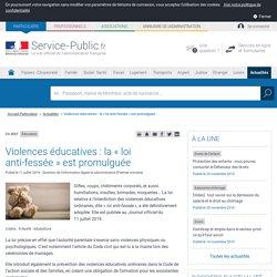 Éducation -Violences éducatives: la «loi anti-fessée» est promulguée