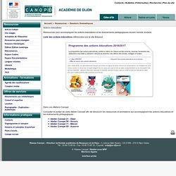 Actions éducatives - Réseau Canopé – Direction territoriale académies de Besançon et de Dijon