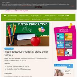 Juego educativo infantil: El globo de los valores