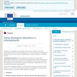 Italia:Sostegno educativo e orientamento