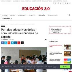 Portales educativos de las comunidades autónomas de España